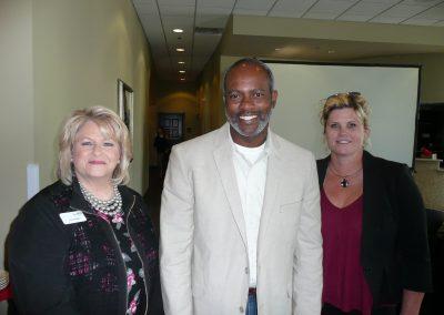 IIAT Agency Liaison Donna Biles, IIAWT President Jeremy Barbee, IIAT President Marit Peters